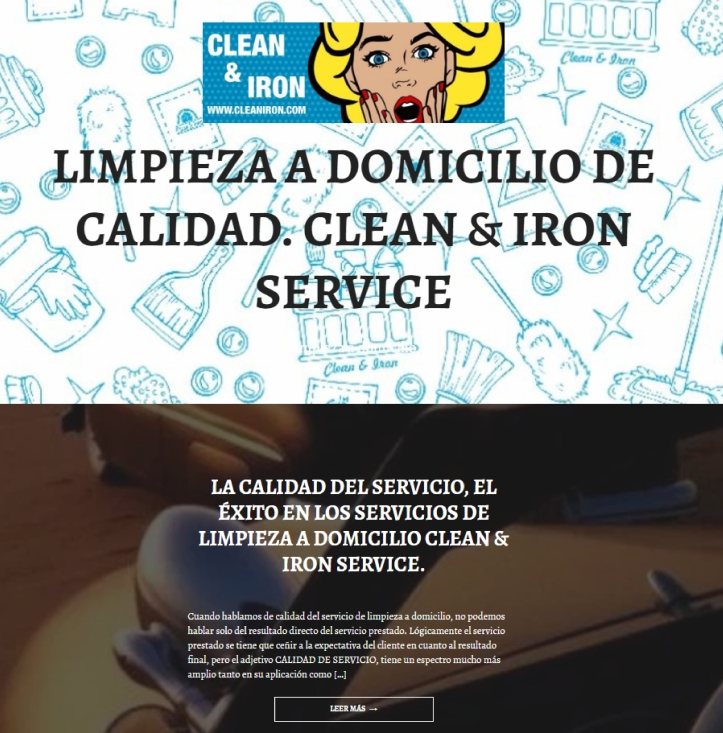 limpieza a domicilio en wordpress
