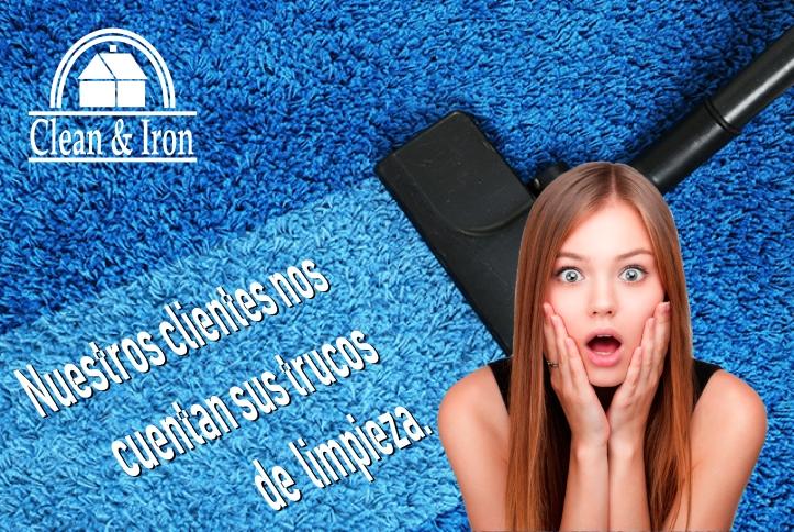 Trucos de limpieza de los clientes de Clean & Iron Service