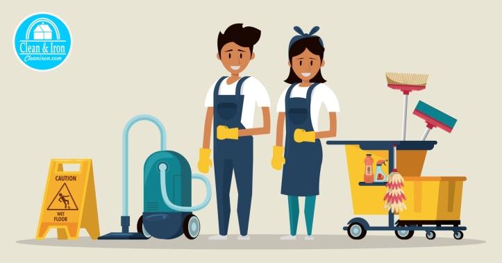 equipo de limpieza clean and iron